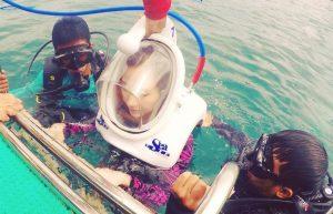 walking underwater seatrek